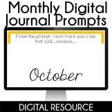 Digital Journal Prompts in Google Slides- October