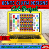 Digital Kente Cloth Design Art Project & Reading Passage for Black History Month