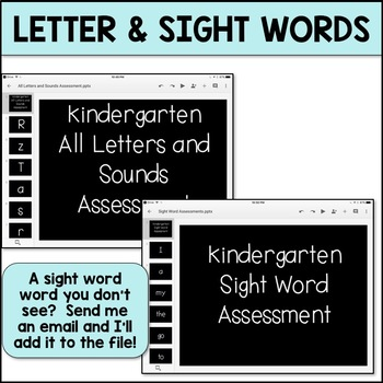 Digital Kindergarten Assessment Resources