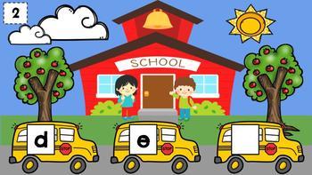 Digital Kindergarten ELA Center- Who is on the Letter Bus?