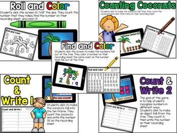 Digital Centers Chicka Chicka 123 for Google Classroom /One Drive (Kindergarten)