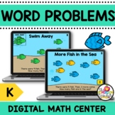Addition & Subtraction Word Problems Kindergarten Math Center on Google Slides