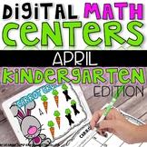 Digital Kindergarten Math Centers for APRIL
