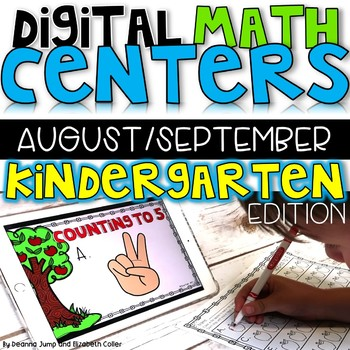 Digital Kindergarten Math Centers for August/September