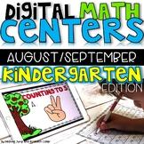 Digital Kindergarten Math Centers for August/September