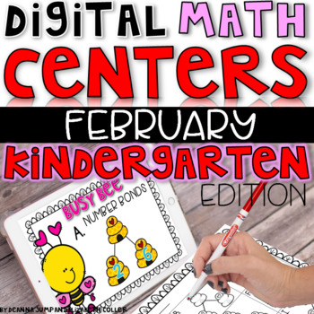 Digital Kindergarten Math Centers for February