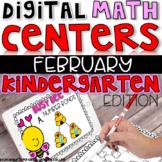 Digital Kindergarten Math Centers for February