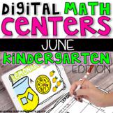 Digital Kindergarten Math Centers for JUNE