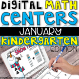 Digital Kindergarten Math Centers for January