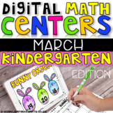 Digital Kindergarten Math Centers for MARCH