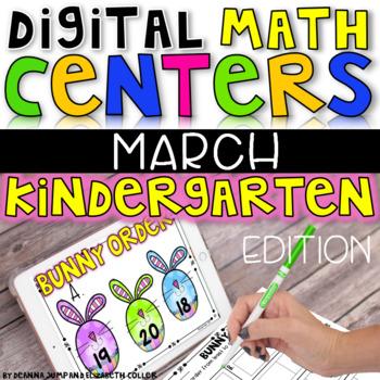 Digital Kindergarten Math Centers for MARCH