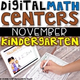 Digital Kindergarten Math Centers for NOVEMBER