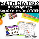 Digital Kindergarten Math Centers for OCTOBER