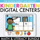 Digital Kindergarten Math & Literacy Centers Bundle | Google Slides ™ & Seesaw ™