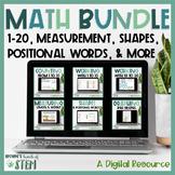 Digital Kindergarten Math Unit Bundle: Google Slides for D