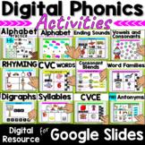 Digital Kindergarten Phonics Activities Bundle for Google