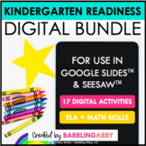Digital Kindergarten Readiness for Google Classrooms™ and Seesaw™ Bundle