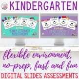 Digital Kindergarten assessment slides | Distance Learning