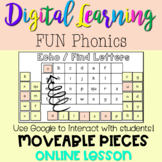 Digital FUN Phonics Find the Letter! Distance learning for Phonics Letter Match