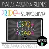 Digital LGBTQ+ Pride-Supportive Daily Agenda for Google Sl