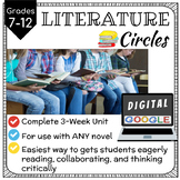 Digital LITERATURE CIRCLES for Upper Grades - 3 Week Unit
