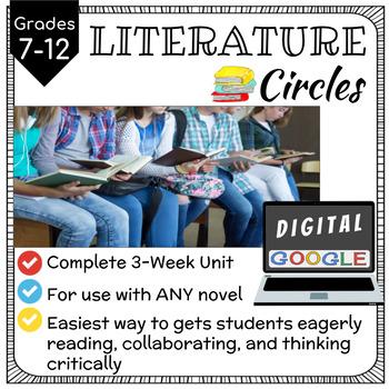 Digital LITERATURE CIRCLES for Upper Grades - 3 Week Unit