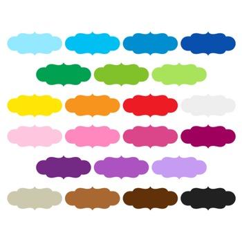 Digital Label Clipart - 22 digital labels / 2x4 inches - A00008