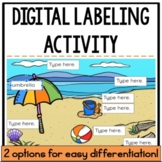 Digital Labeling Activity {Distance Learning/Google Classroom}