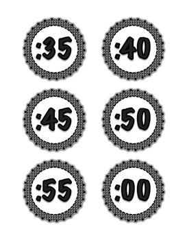 Digital Labels for Analog Clock
