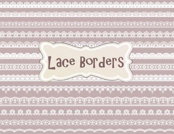 Digital Lace Doily Clip Art Digital Black Lace Border Element Dolly Clipart