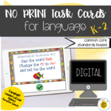 Digital Language Task Cards for Speech Therapy   NO PRINT