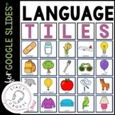 Digital Language Tiles for Google Drive™ Teletherapy Activ