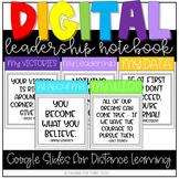 Digital Leadership Notebook Distance Learning Google Slides