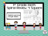 Digital Learning 4 Square Math Spiral Review