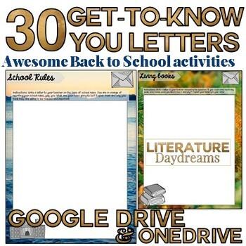 Digital Learning: Back to school letter writing set - get