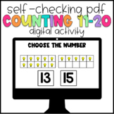 Digital Learning Counting 11-20 Self-Checking Activity