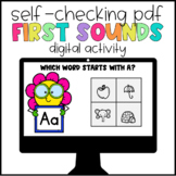 Digital Learning First Sounds Self-Checking Activity