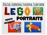 Digital Learning Lego Portrait Art Elementary Lesson Slideshow
