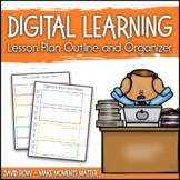 Digital Learning Lesson Plan Template and Organizer