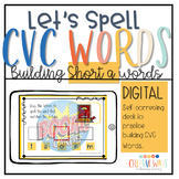 Digital Let's Spell CVC Words short a (Boom Deck and stude