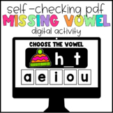 Digital Learning Missing Vowels Self-Checking Activity
