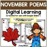Digital Learning - NOVEMBER POEMS {Google Slides™/Classroom™}