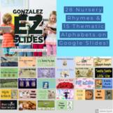 Digital Learning-NURSERY RHYMES/ALPHABET/NUMBERS-Daily Practice Google Slides