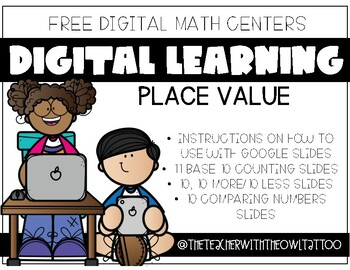 Digital Math Activities (Place Value) Distance Learning