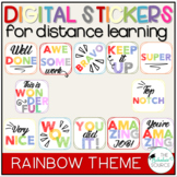 Digital Stickers Distance Learning Seesaw Stickers Rainbow Theme
