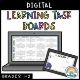 Digital Learning Task Boards (Distance Learning Grade 1 &