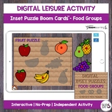 Digital Leisure Activity | Single Inset Puzzle | Food Grou
