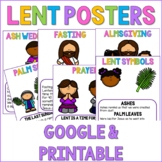 Digital Lent Posters- Classroom Decor Google Slides™ and P