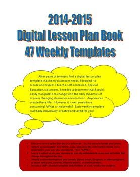 Digital Lesson Plan Book 2014-2015