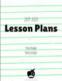 Digital Lesson Plan Book - Thin (Line) Mint